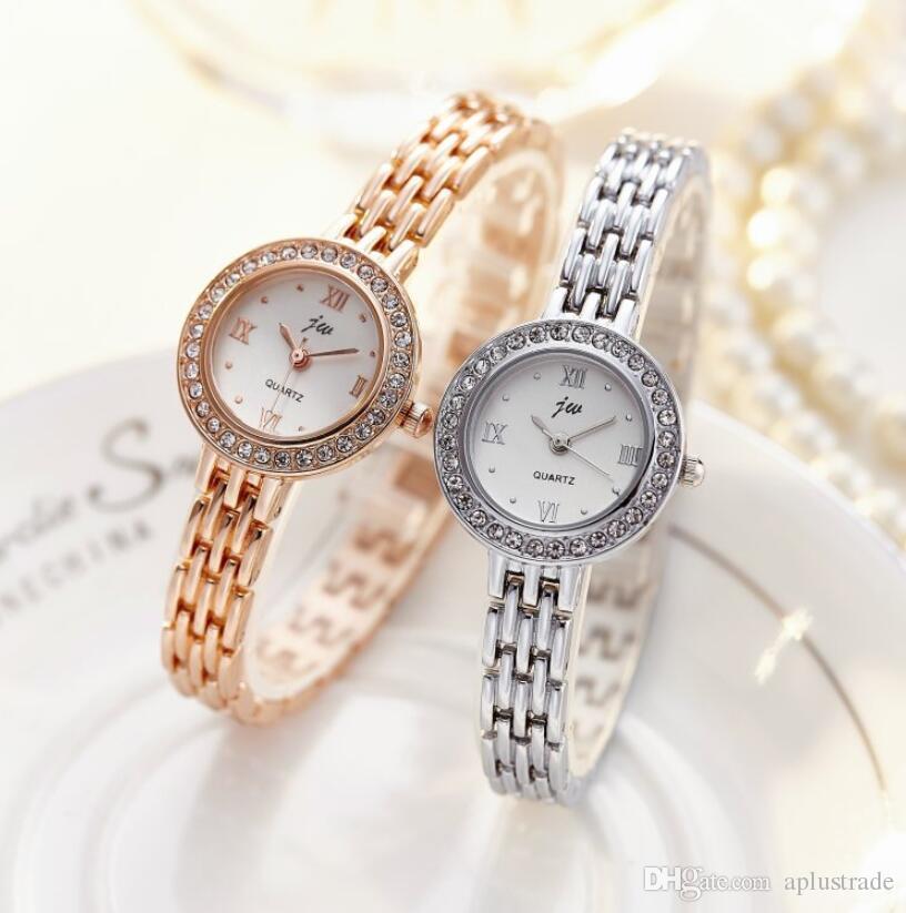 Compre 2018 Nueva Marca JW Reloj De Cuarzo De Las Mujeres De Lujo Oro Plata  Relojes De Pulsera Señoras Relojes De Pulsera De Cristal Femeninos Relojes  ... 706f29b2215a