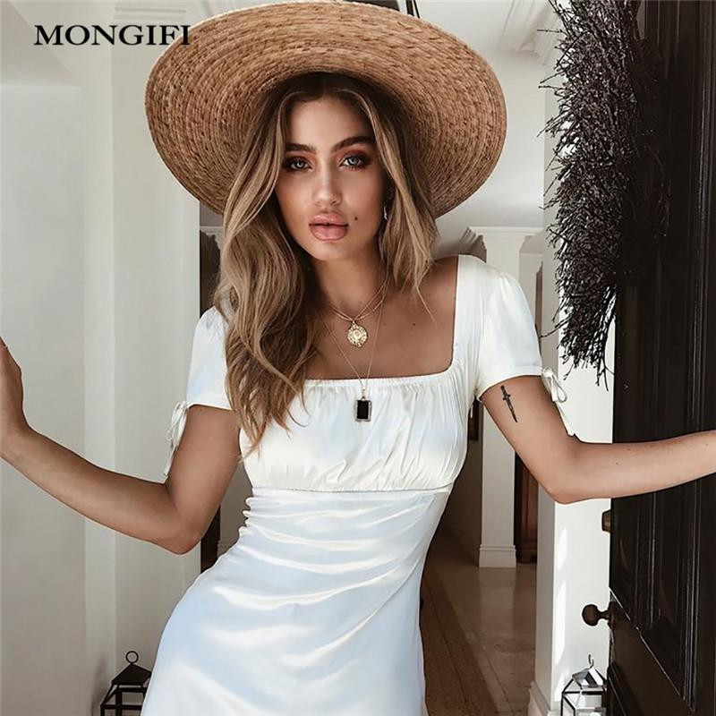 Wholesale Slash Neck Ruffle Strap Backelss Summer Dress Elastic ... d721fa1889a0