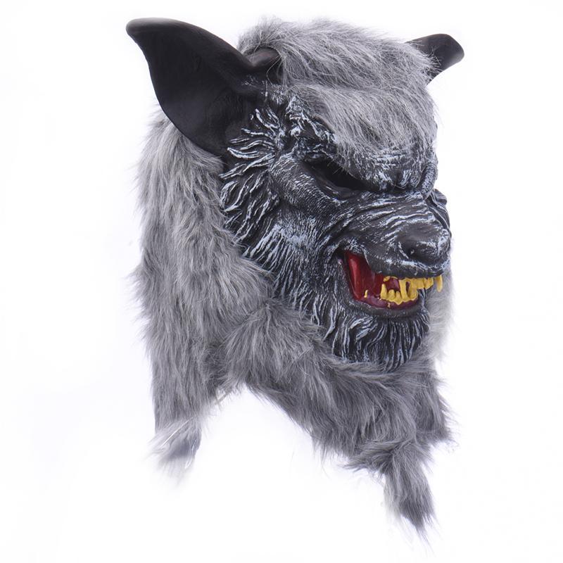 Acquista Maschera Di Lupo Di Halloween Testa Di Animale Spaventoso Maschera  Di Lupo Mannaro Creepy Maschera Di Cosplay Il Mostro Del Partito Maschera Di  ... 0f5c03306356