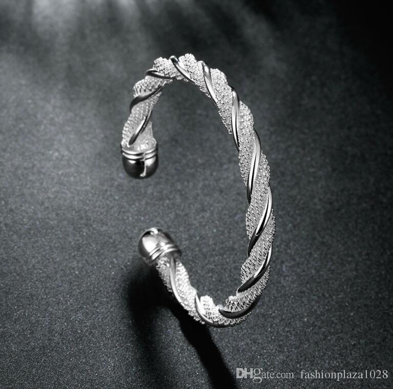 925 silver New Product Charm Handmade Bracelet Antique Silver Bracelet Bangles .B0004