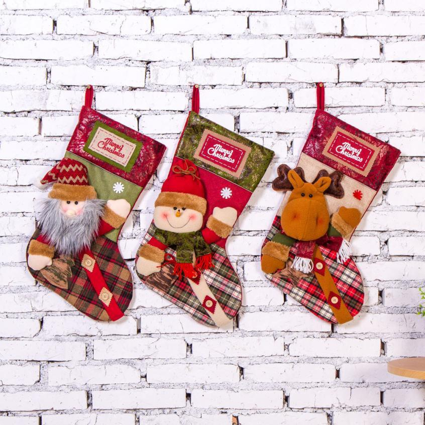 Großhandel 2018 Neue Jahre Dekorative Anhänger Große Weihnachtssocke ...