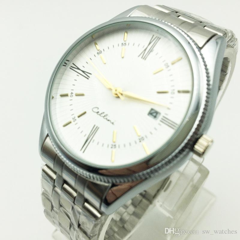 새로운 남자 손목 시계 패션 쿼츠 조절 스포츠 시계 패션 스틸 남자 시계 선물 무료 Shiping 스테인레스 스틸 시계 시계