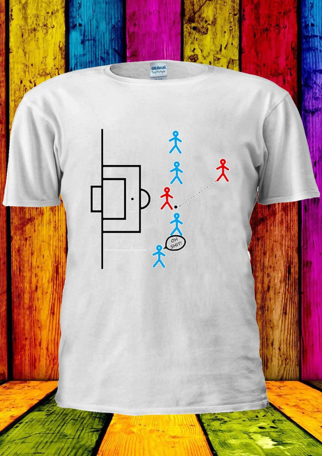 cace2c6d58 Compre Armadilha De Impedimento De Futebol Futebol Engraçado T Shirt Colete  Regata Das Mulheres Dos Homens Unisex 1872 Hip Hop Homens Camiseta Rock  Unisex T ...