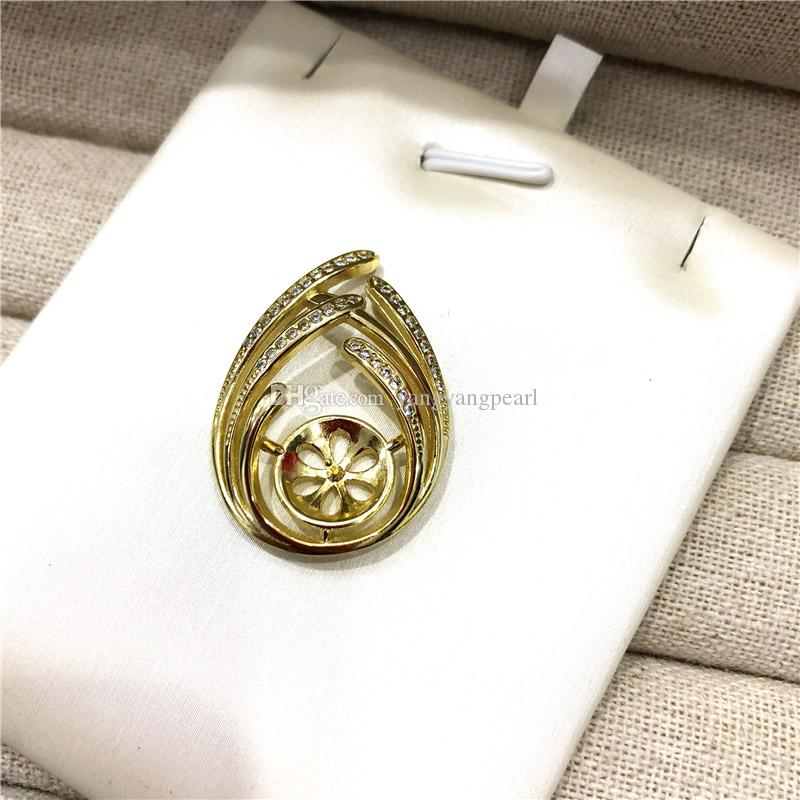 925 Sterling Silver Leaf/Flowers and Plant Pendant Accessories Gold/Silver Color Parts Jewelry Suprise Festival Gift For Women