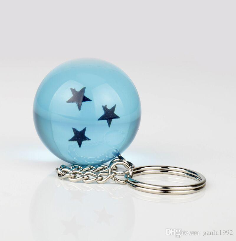 New Pattern Dragon Ball Stars Crystal Balls Lovely Blue Figures Toys Garage Kit Key Chain Pendant Multiful Star Novelty Toy 7ds W