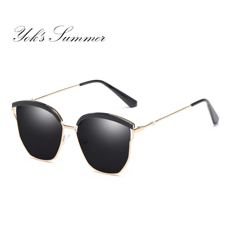 4487615fb Yok'S Fashion Polarized Sunglasses Women Cat Eye Hollow Metal Frame Sun  Glasses For Women Driving Goggles Shades With Original Cases WN090 Cat Eye  ...