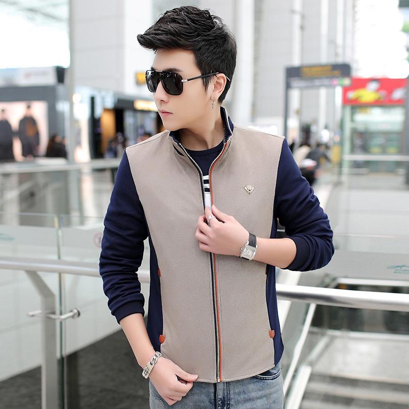 Весна Осень новое пальто мужской моды повседневная тонкая мужская куртка брендовая одежда куртка-бомбер мужская хлопок jaqueta masculina heren jas
