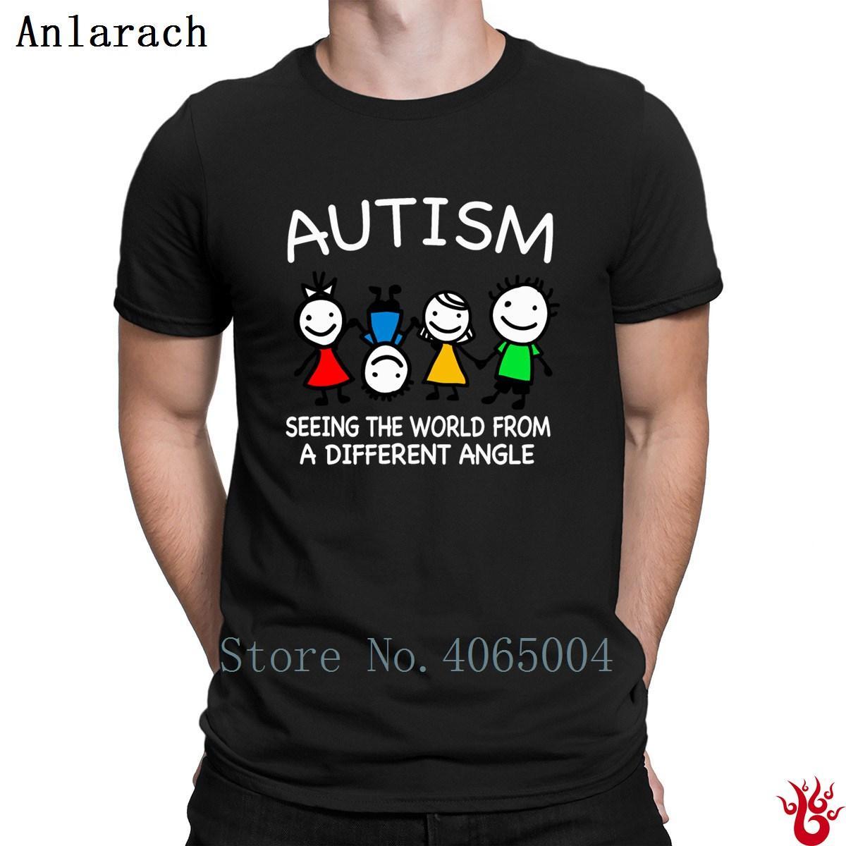 Autism Seeing The World T Shirt Hip Hop Standard New Fashion Tshirt