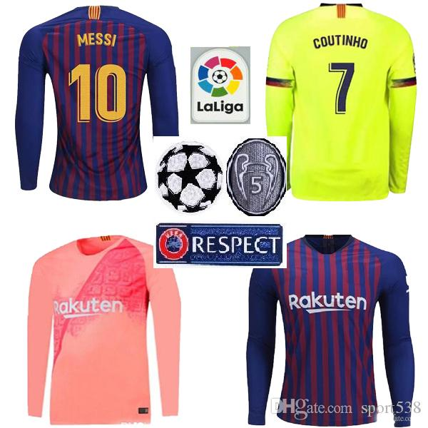 fccaed510ce ... wholesale 2018 2019 barcelona jersey 18 19 long sleeve adult home away  third suárez 9 dembele