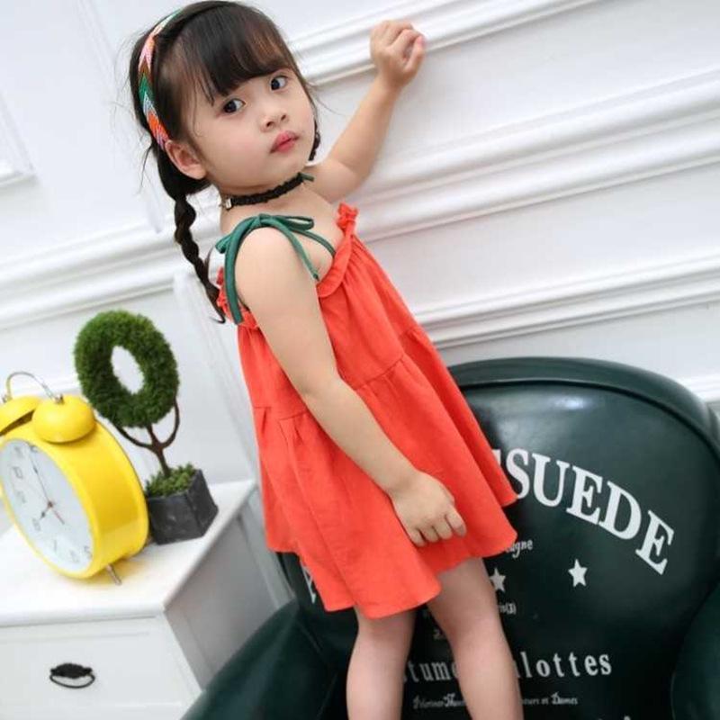 Toddler Baby Girls 4 Color Summer Sleeveless Dandelion Floral Print Princess Dress Toddler Baby Outdoor Clothes Set