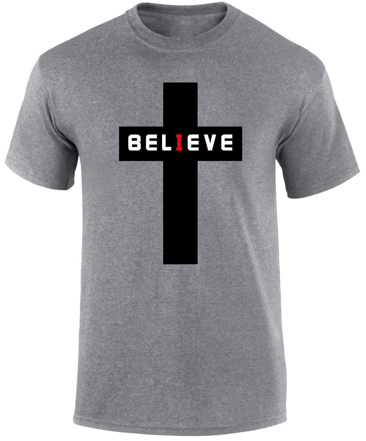 31eda6dbcfafdb Großhandel Gläubiger Christian Religiös Jesus Christus Glaube Wieder  Geboren Taufe Männer T Shirt Von Amesion93