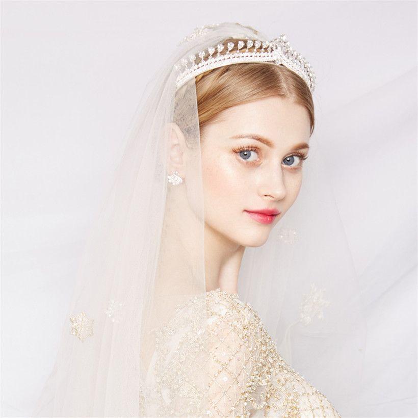 Princess Crown Wedding Bridal Tiara Crystal Rhinestone Headband Hair ... d943301d90ca