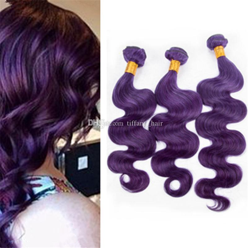 8a Cheap Indian Purple Human Hair Bundles Deals 300gram Body Wave