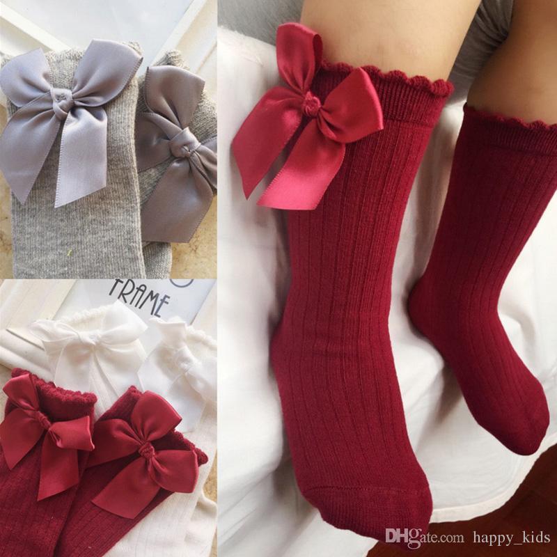 Girl Socks Meias Infantil Knee High Socks Cute Baby Socks Long Tube Booties Vertical Striped Sokken Childrens Sock Socks, Tights & Leggings
