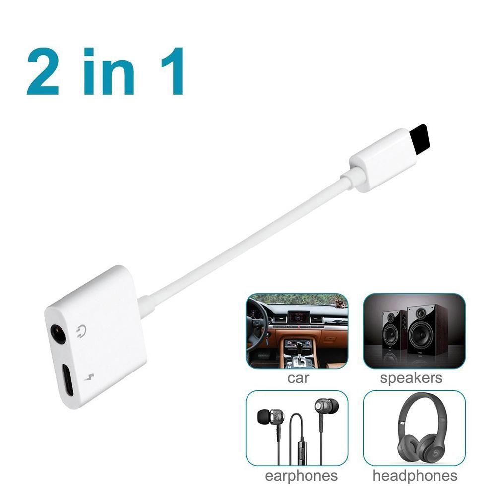 592e30fc1f4 Adaptador Usb Hembra A Hdmi Macho Para Iphone X Cable De Cargador Cable  Auxiliar Adaptador 2 En 1 Auriculares Música IPhone 7 8 Plus Aux Jack Jack  Para ...