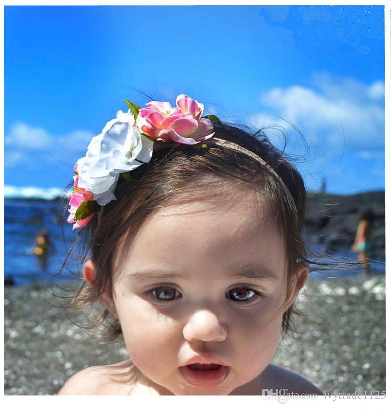 baby girl hairbands exquisite headband cute Stereo Flowers Design Headbands kids Baby Hair Accessory