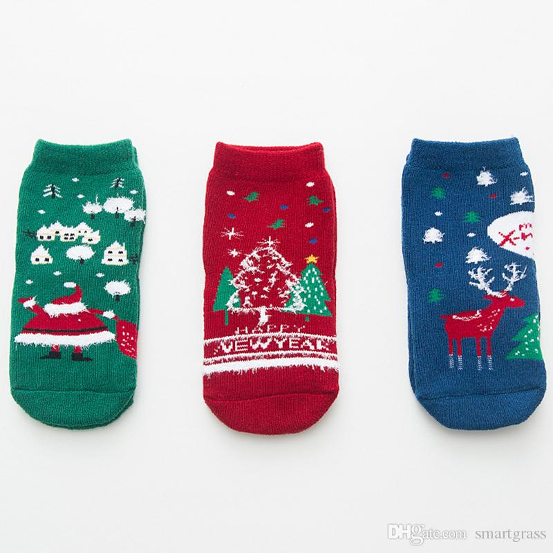 1 12years Kids Christmas Socks Thick Warm Santa Clause Socks Cotton ...