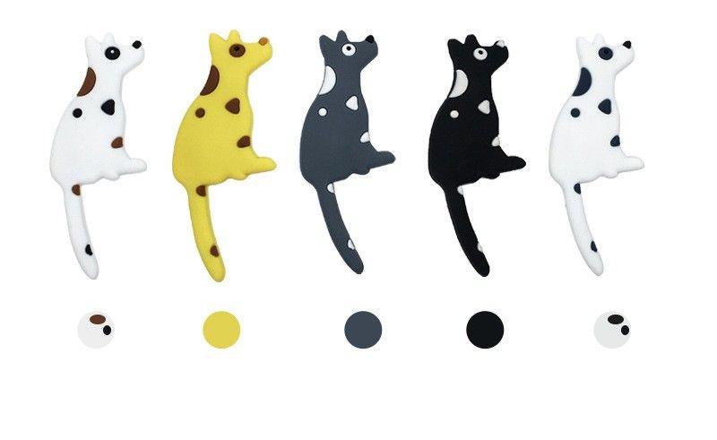 Refrigerator Magnet Creative Cartoon Lovely Fridge Dog Shape Tail Hook Small Object PVC Soft 4 5yka V