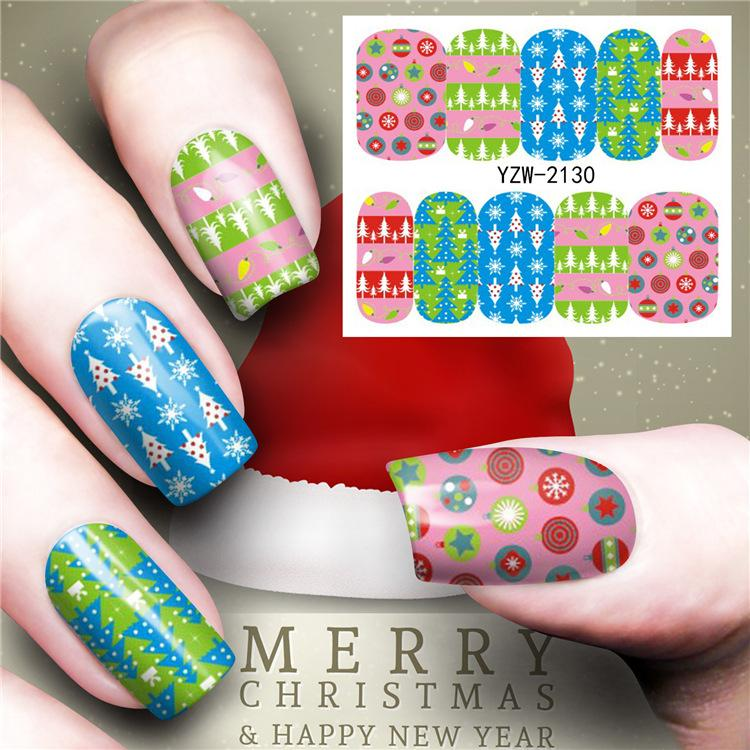 2018 New Nail Art Decoration Christmas Snow Santa Claus Stickers Stamping  Drawing Image Template Decal Drop Shipping  Nail Decoration Nails Decoration  From ... f68dab88fc9a