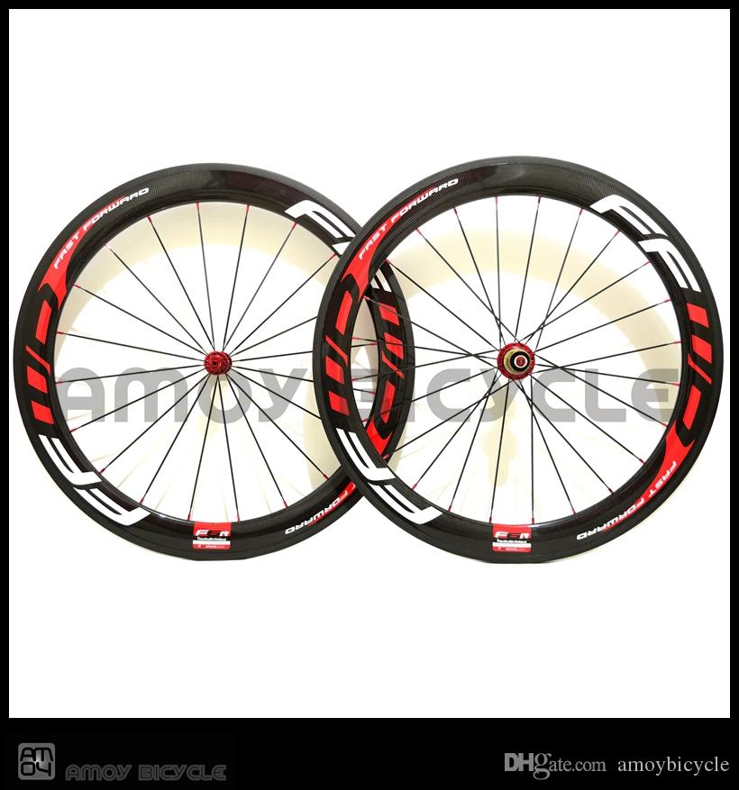Chinese FFWD 50mm Carbon Road Wheels Wheelset Clincher Tubular Matte glossy Bike Wheelset many colors