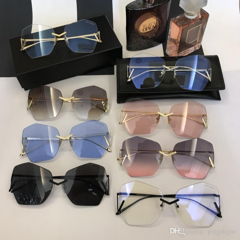 b11c0b2cf4 2018 Irregular Mirror Sunglasses For Women Metal Reflective Flat ...
