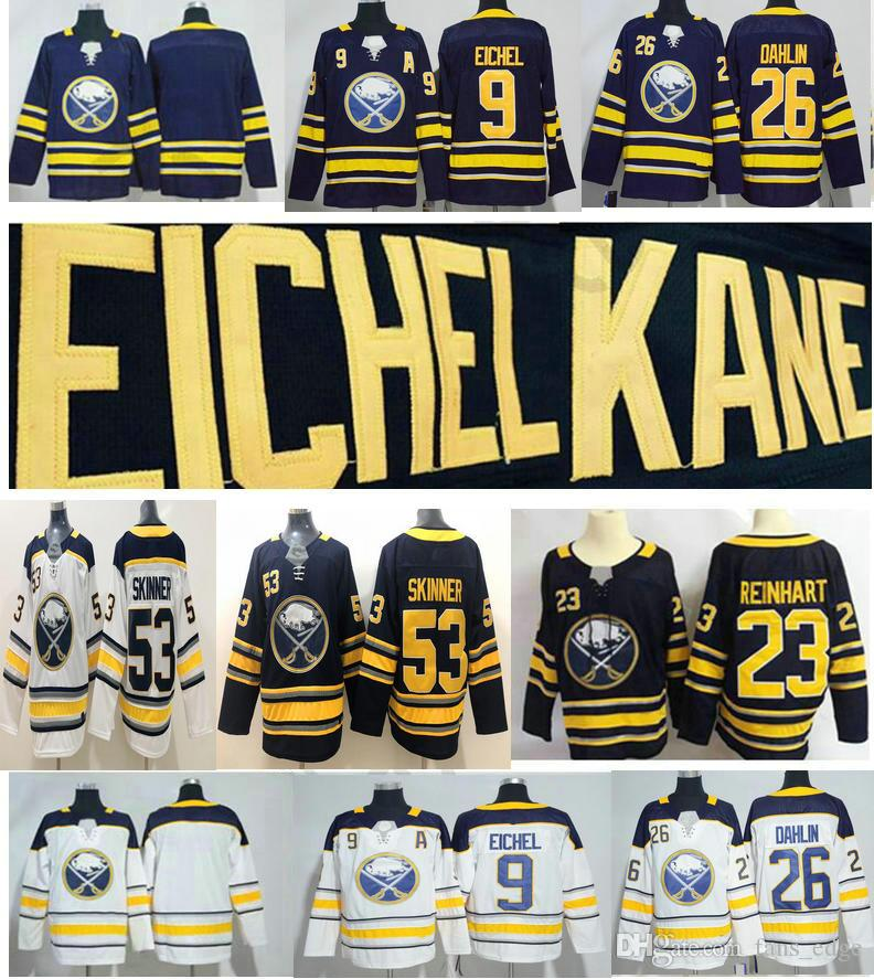 2018 Buffalo Sabres Jerseys  9 Jack Eichel Home Blue Blank 23 Sam ... e755b710a
