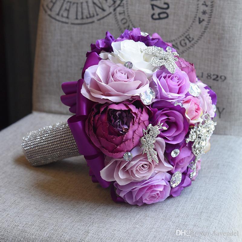 2018 Wedding Bouquet Beautiful Bridesmaid Wedding Rose Bridal ...