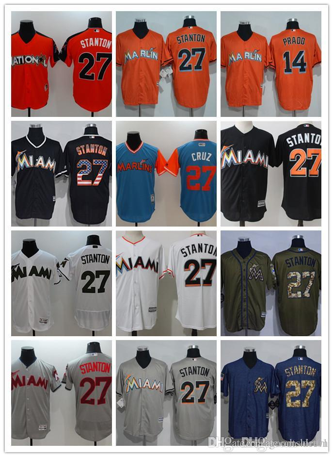 e397da2f4 Custom Men Women Youth Miami Marlins Jersey  14 Martin Prado 27 ...