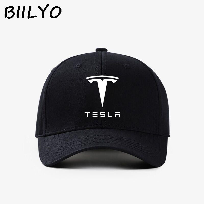 TESLA Car Logo Trucker Hat Mesh Flat Bill Baseball Snapback Flexfit Cap NEW  Box Cap Store Custom Fitted Hats From Fotiaoqia a321e21e290e