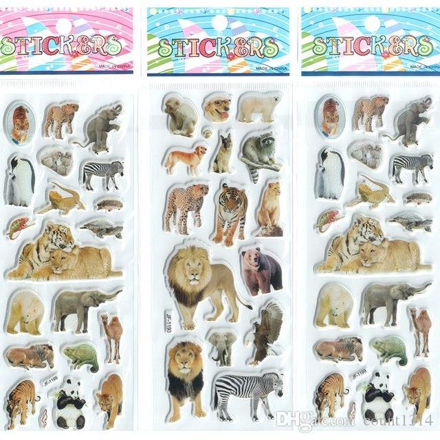 wholesale Little Boys Girls Baby Cartoon Stickers Aninals Kawaii Gifts set Princess Toys Beautiful Develop Intelligence