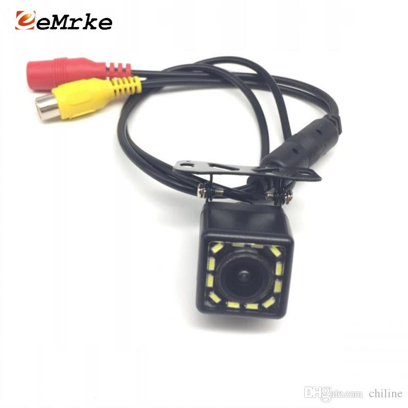EEMRKE 12 LED Universal Car Camera HD CCD Night Vision Rear View Backup Parking Cameras Night Vision 170 Wide Angle NTSC Video Cable Ki