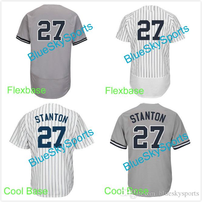 125e0a6b877 ... italy 2018 mens 27 giancarlo stanton jersey 2017 new players white gray cool  base flexbase baseball