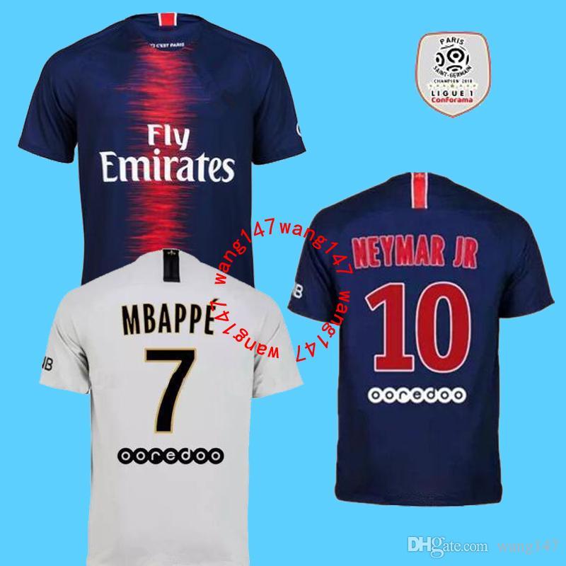 Compre NEYMAR JR MBAPPE Camisolas De Futebol De 2018 2019 Psg Futebol Camisa  Maillot Camisa De Saint Germain DANI ALVES Jersey 18 19 Cavani 93a53e1b3c194