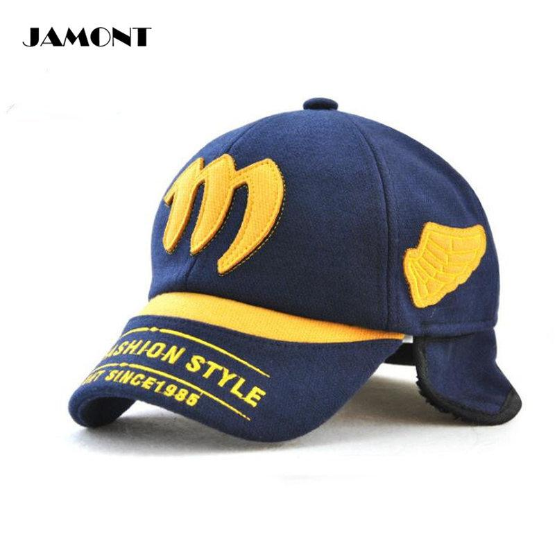 dbd95117a4b 2019 JAMONT Adjustable Winter Golf Cap Embroidery Cotton With Short Plush  Inside Comfortable Warm Child Golf Hats Protect Ear From Mangosteeng