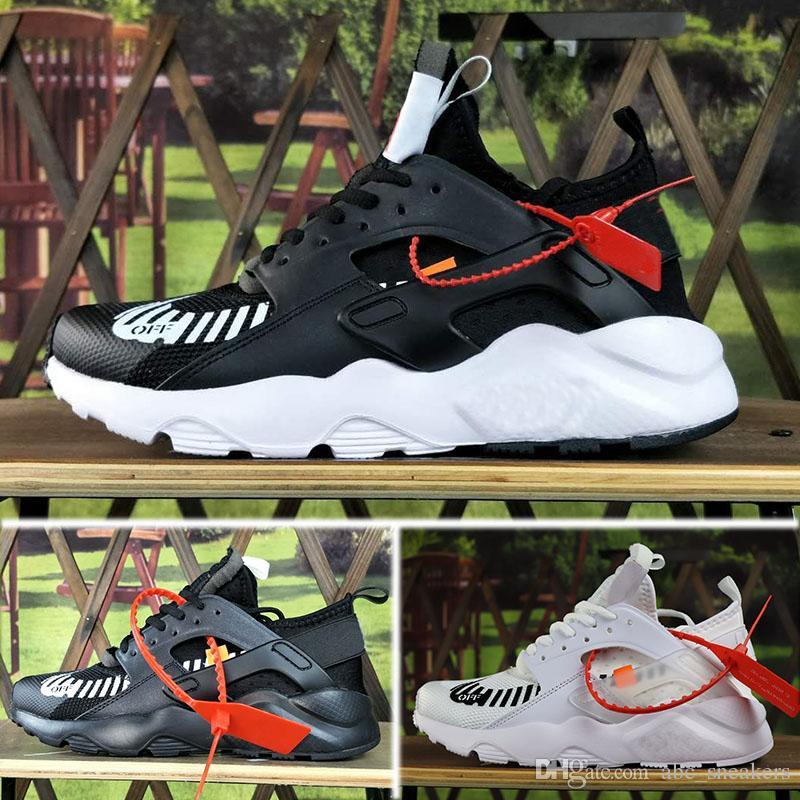 new arrival fcf62 b6b54 Acquista 2018 Nike Air Huarache Ultra 4 OFF WHITE Men s Shoes Off New Air  Huarache Ultra Run 4 IV Scarpe Da Corsa Uomo Donna, Maglia Huaraches Bianco  ...