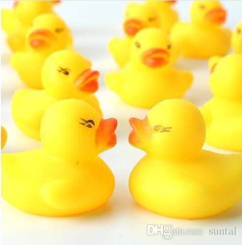 Детские игрушки водяной бане игрушки звуки мини желтый резиновые утки дети купайтесь дети плавание пляж подарки DHL Fedex бесплатная доставка