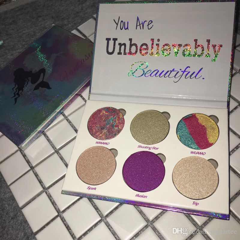 Liebes-Luxe Beauty Fantasy Lidschatten-Palette 6 Farben Make-up Unglaublich schöne Textmarker Pulver Palette Kostenloser Versand von Jaguartee