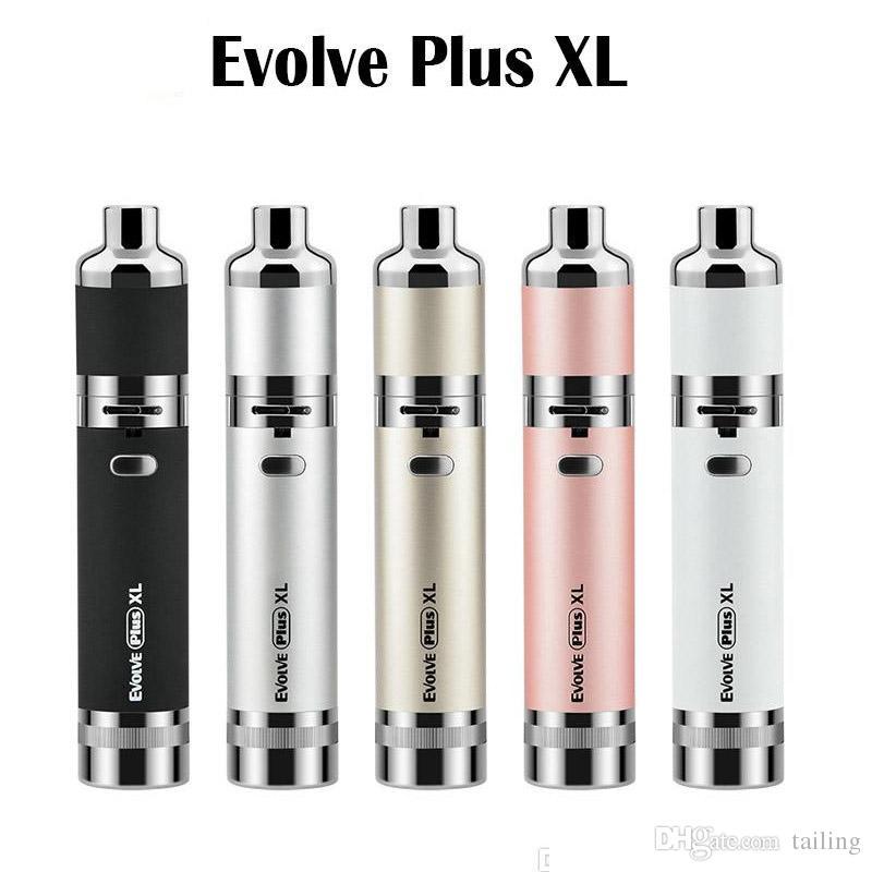 Newest Evolve Plus XL kit Wax pen with 1400mah Battery Dab Pen Vaporizer Kit Silicon Jar Quad Quartz Rod Coil Uni battery