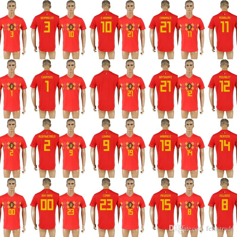 efed1ab352c ... promo code for 2018 belgium 2018 world cup home jerseys christian  kabasele vincent kompany nicolas lombaerts