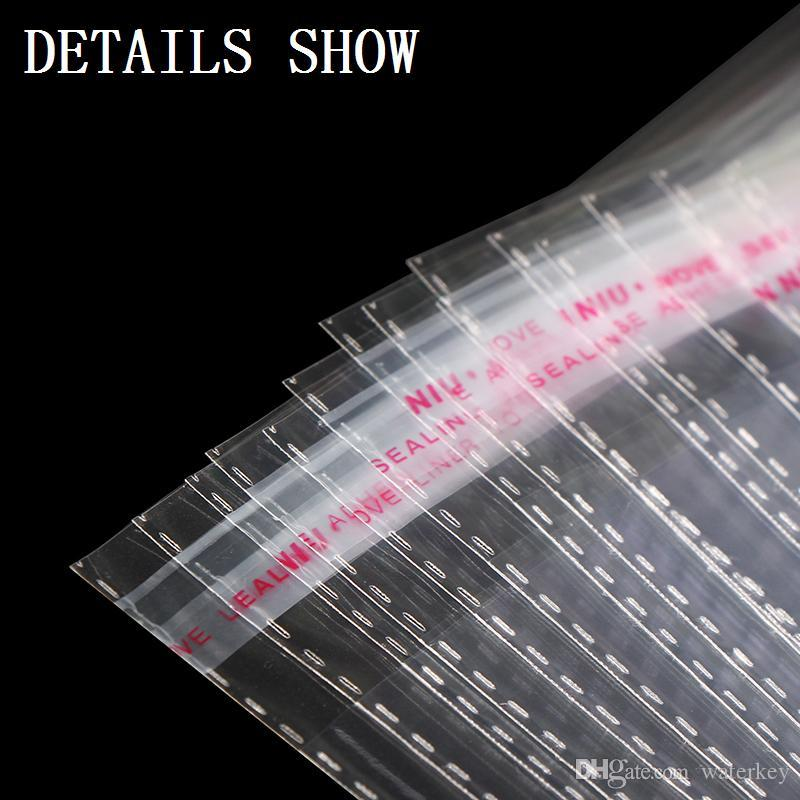 OPP Self Adhensive Plastic Bags transparent Clear Self Seal bag For EMPTY Packing bags For Clothing Book Writing materials Food etc.