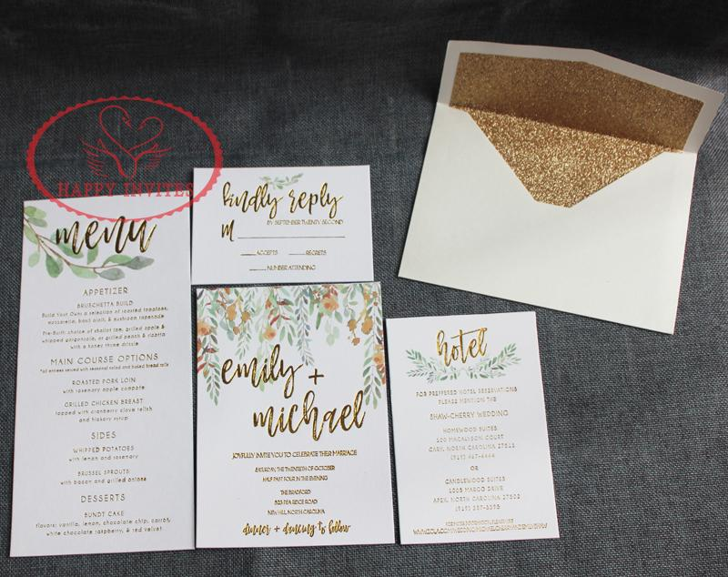 For Some Countries! HI1150 Simple White Wedding Invitation Card Wedding  Menu With Gold Letterpress Christmas Birthday Card Christmas Birthday Cards  From ... 1cb1fe909db3