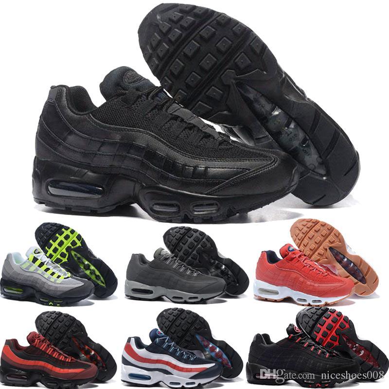 fb3ff1828cf55 Nike Air Max Airmax 2018 NUEVOS Zapatos Atléticos Al Por Mayor 95s Zapatos  Casuales Hombres Amortiguador 95 Sneaker 2017 Nuevo Descuento Caminando  Deporte ...