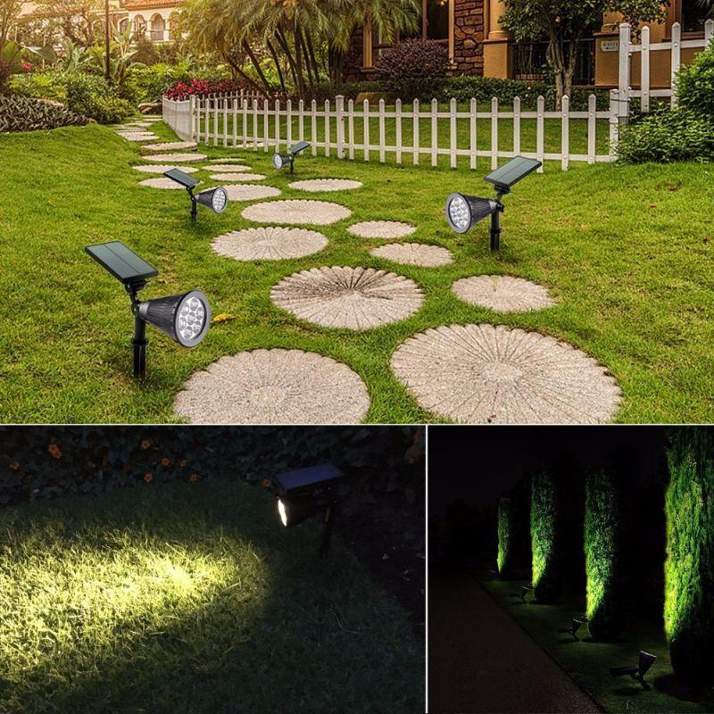 Incroyable 2018 Solar Garden Lights Upgraded 7 Led Solar Spotlights Waterproof Outdoor  Landscape Security Night Lights 7 Led Solar Spotlight Bright U0026 Dark From  Malight ...