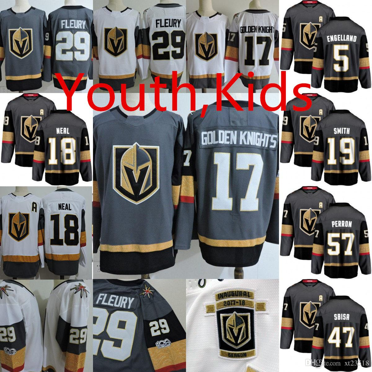 Youth Vegas Golden Knights Marc Andre Fleury Jersey  18 James Neal Deryk  Engelland David Perron William Karlsson Golden Knights Jersey Canada 2019  From ... d4aaf65c7