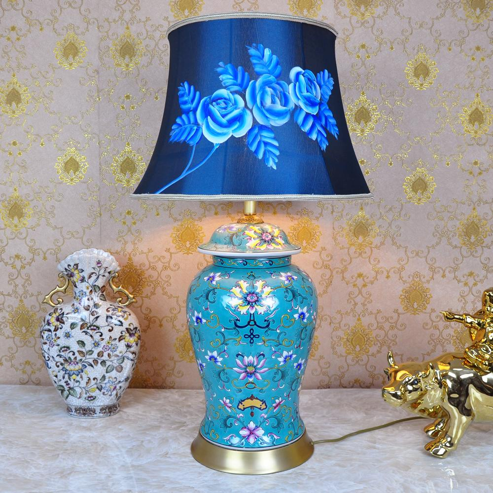 Vintage chinese bedroom living room wedding table lamp jingdezhen vintage chinese bedroom living room wedding table lamp jingdezhen porcelain ceramic table lamp art led ceramic table lamp table lamp ceramic porcelain table aloadofball Image collections