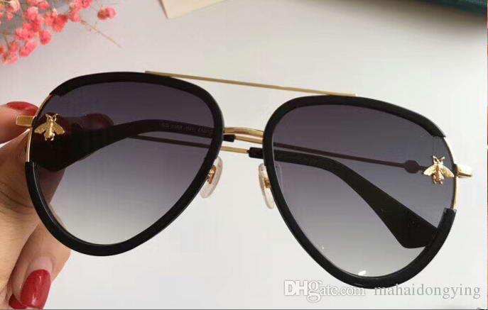 fc6badee62b13 0455 Pilot Sunglasses Black Frame 59mm Sonnenbrille Luxury Brand ...