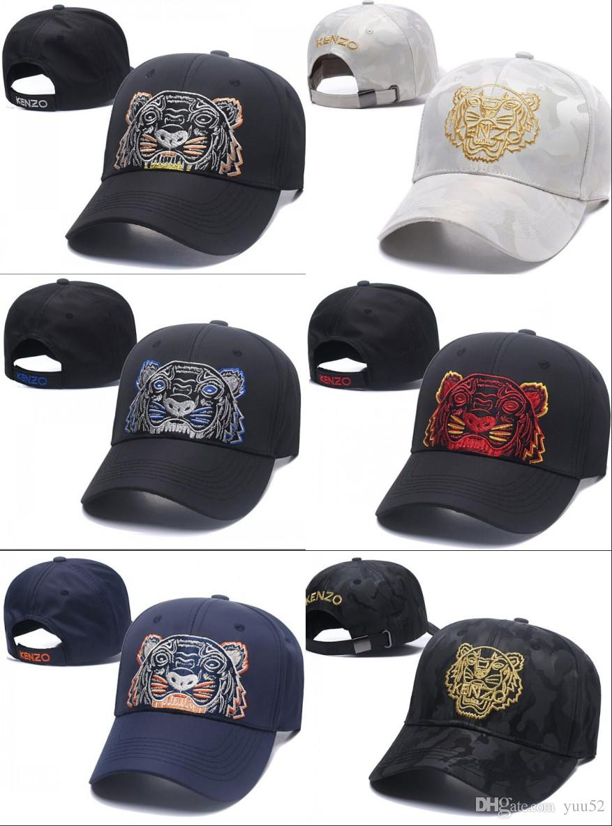2018 Designer Baseball Caps New Brand Tiger Head Hats Gold Embroidered Bone  Men Women Casquette Hat Gorras Sports Snapback Cap Drop Shipping The Game  Hats ... a21d7692079