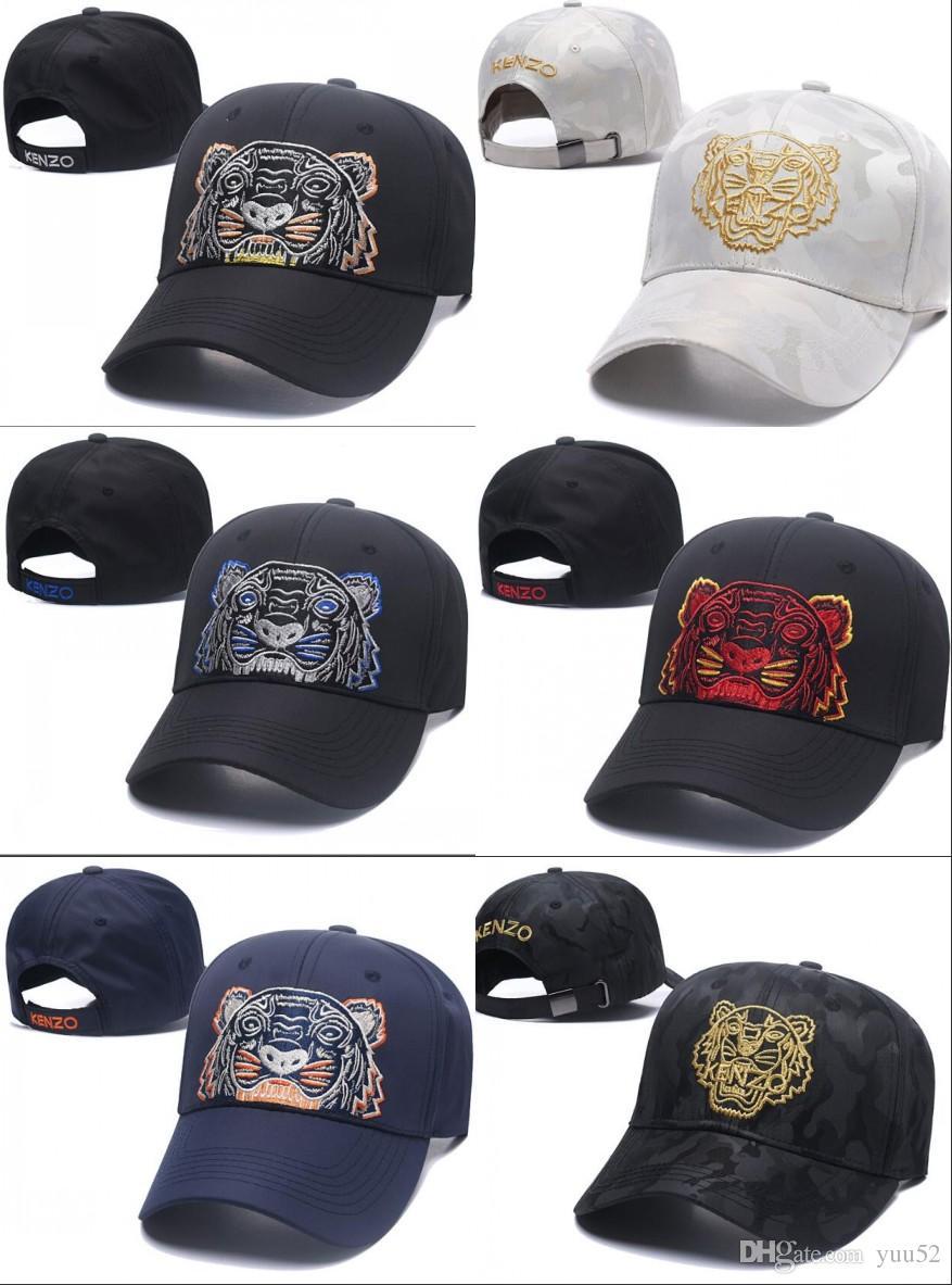 Compre 2018 Gorras De Béisbol Del Diseñador Nueva Marca Tigre Cabeza  Sombreros De Oro Hueso Bordado Hombres Mujeres Casquette Sombrero Gorras  Deportes ... 723531bcc3f