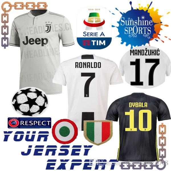 8bd9bfebbc6 Juventus THIRD Gray 18 19 Soccer Jersey RONALDO PJANIC DYBALA ...