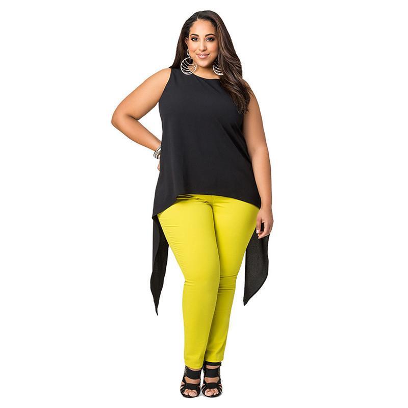 ce2751a4ecc3d Women T Shirt 2019 Summer New Fashion Solid O Neck Sleeveless Chiffon  Irregular Casual Female Tees Tops Plus Size Formal Shirt Casual Shirt From  Your05